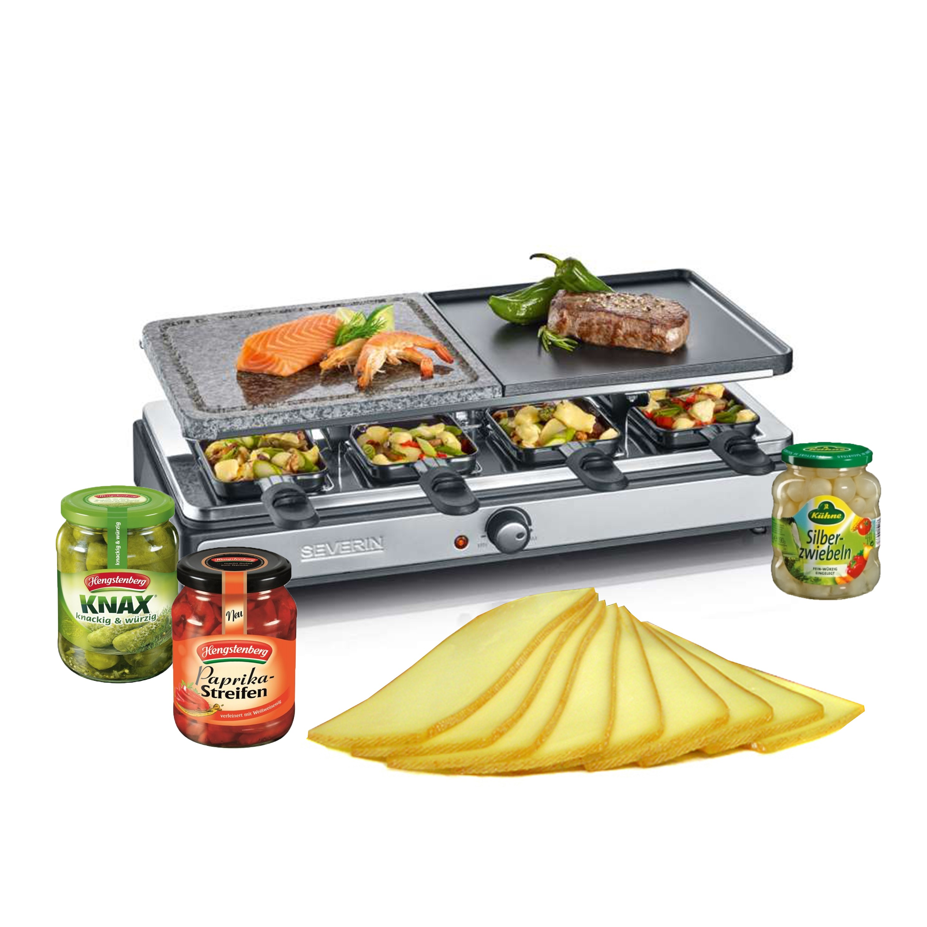 Raclette-Set mit Zutaten